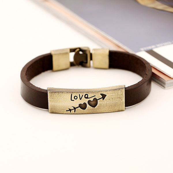 Lovers Leather Clasp Bracelet