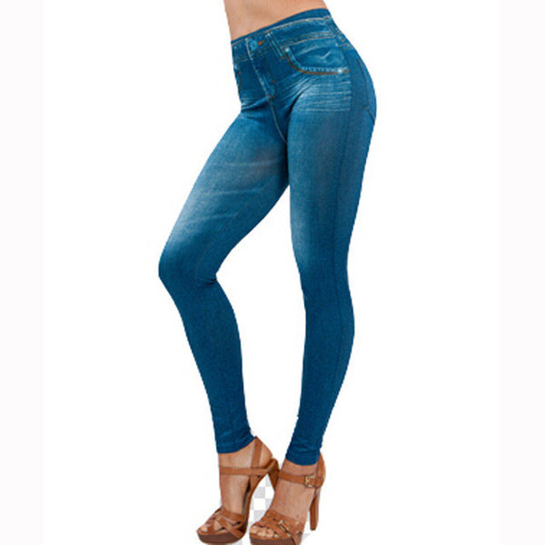 Skinny Jeans    Casual Slim Legging Blue And Black