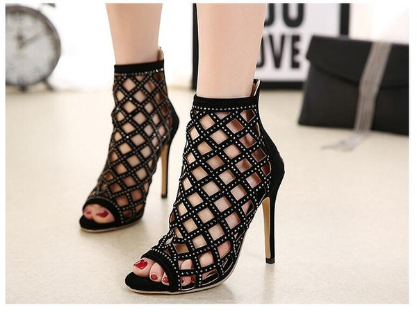 Hollow Sandals  Gladiator Ankle Boots