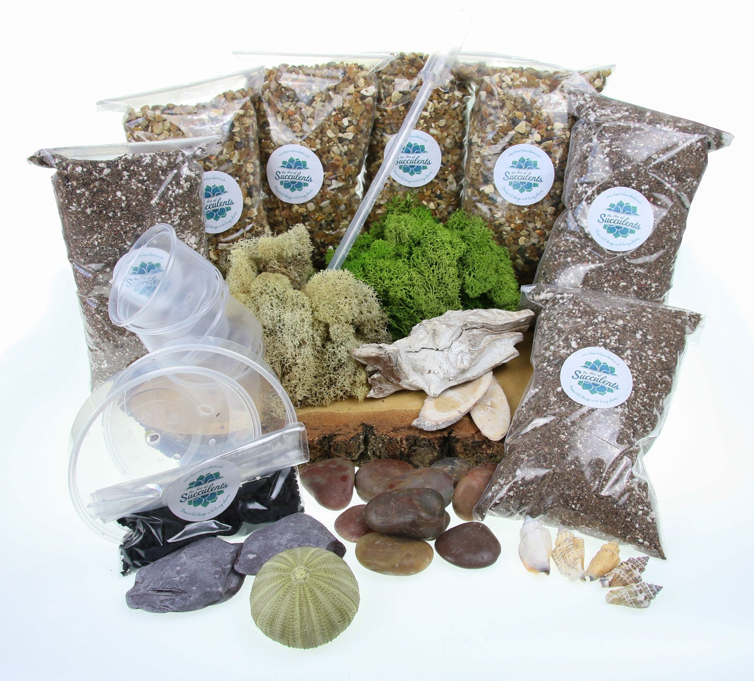 Terrarium Starter Kit Ultimate All The Contents To Fill A Huge Terrarium Or A Few Smaller Ones The Art Of Succulents