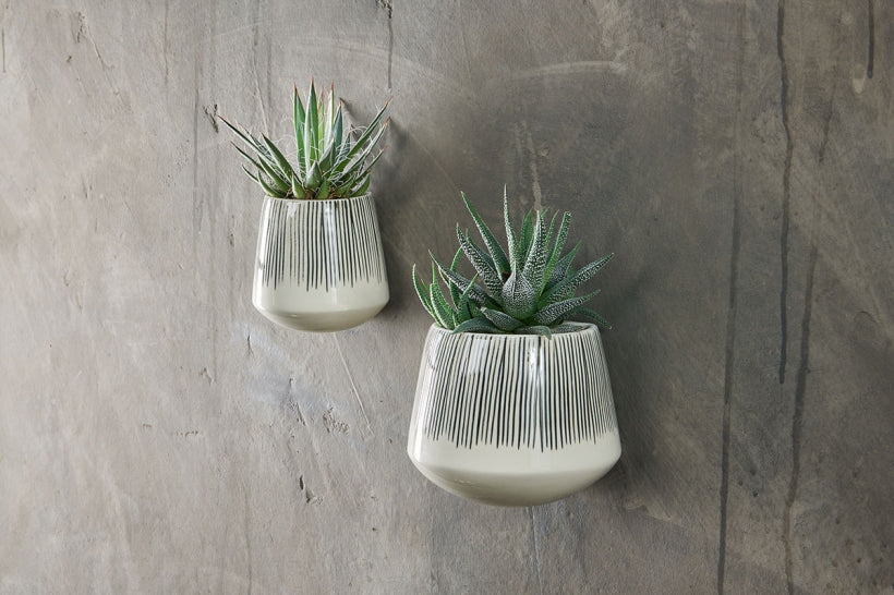 wall hanging planters with flat back