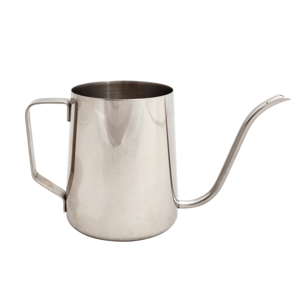 Small indoor stainless steel watering can for house plants