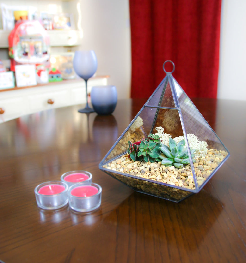 Home accessory terrarium kit glass and copper, from the UK