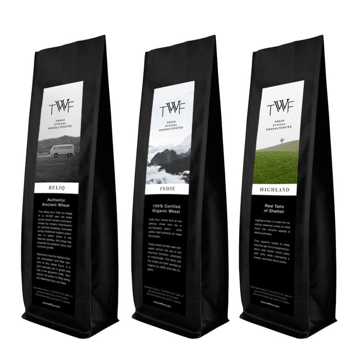 Assorted Trial Pack - 3 Exclusive Wheat Flours (Premium Attas)