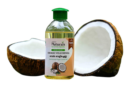 Hand Made Hot Processed Virgin Coconut Oil (Urukku Velichenna / Ventha Velichenna) - Dehydrated Coconut Milk Oil -  from The Land of Coconuts