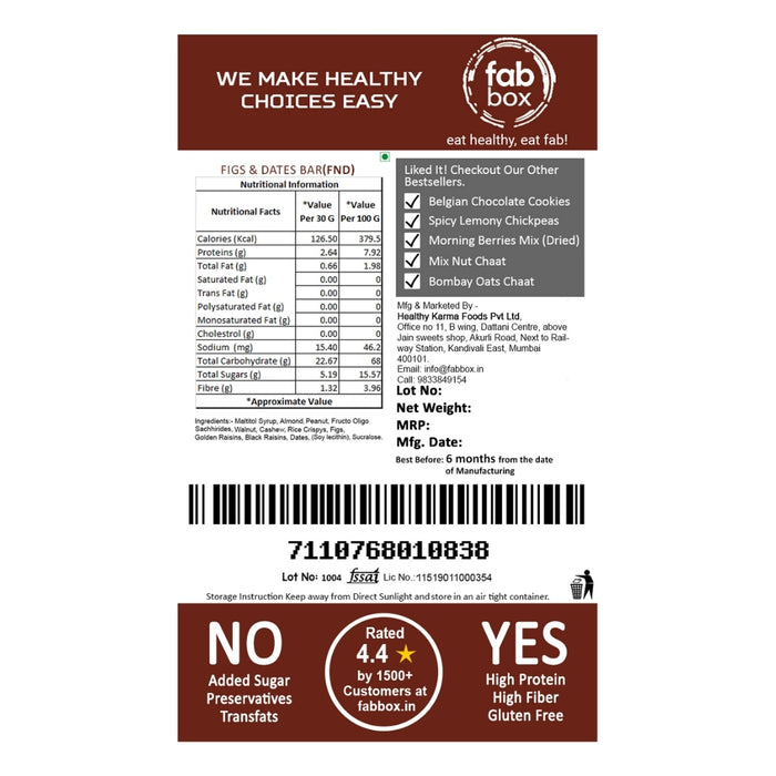 Figs and Dates-Health Bar