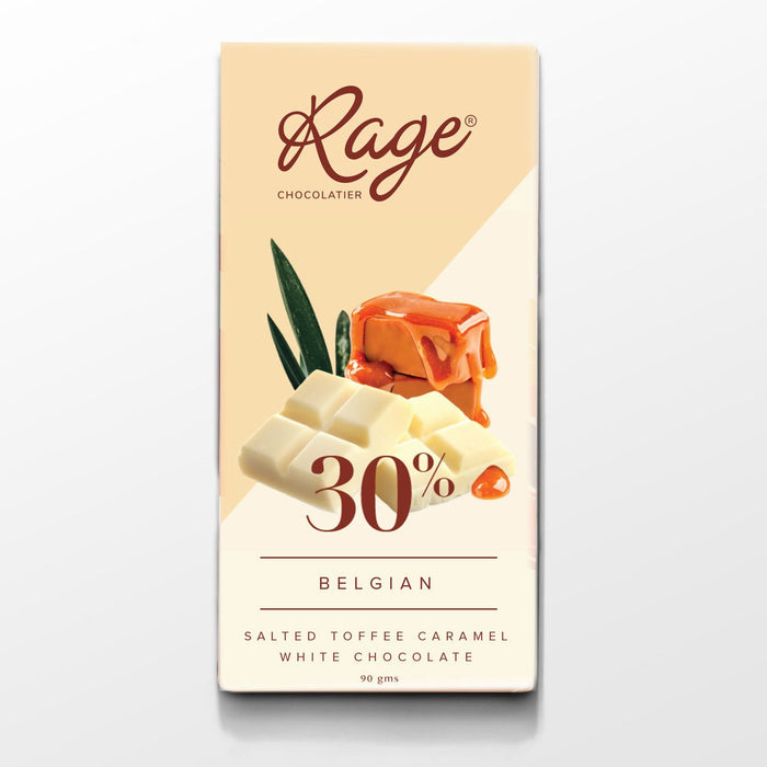 30% Belgian, Salted Toffee Caramel White Chocolate