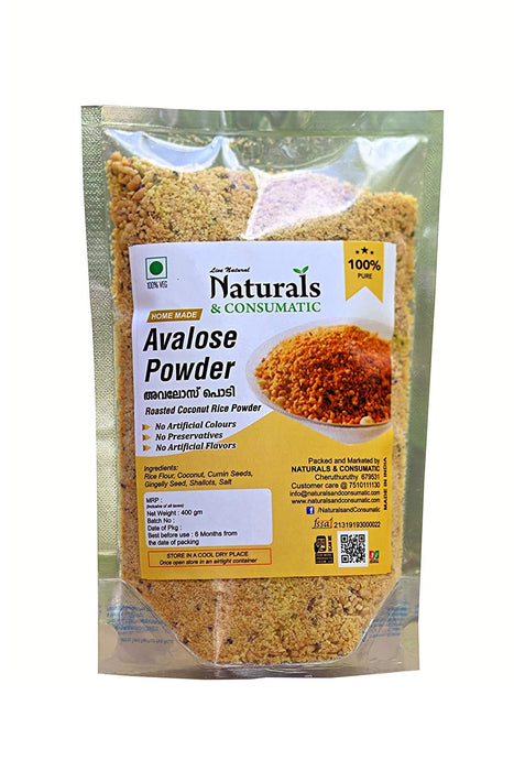 Roasted Coconut Rice Powder - Avalose Podi - Ready to Eat Kerala Snacks