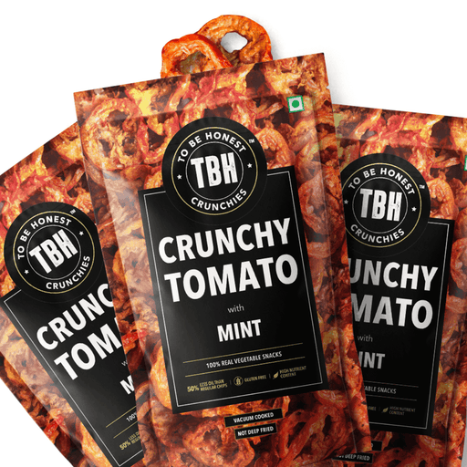 Crunchy Tomato Chips with Mint