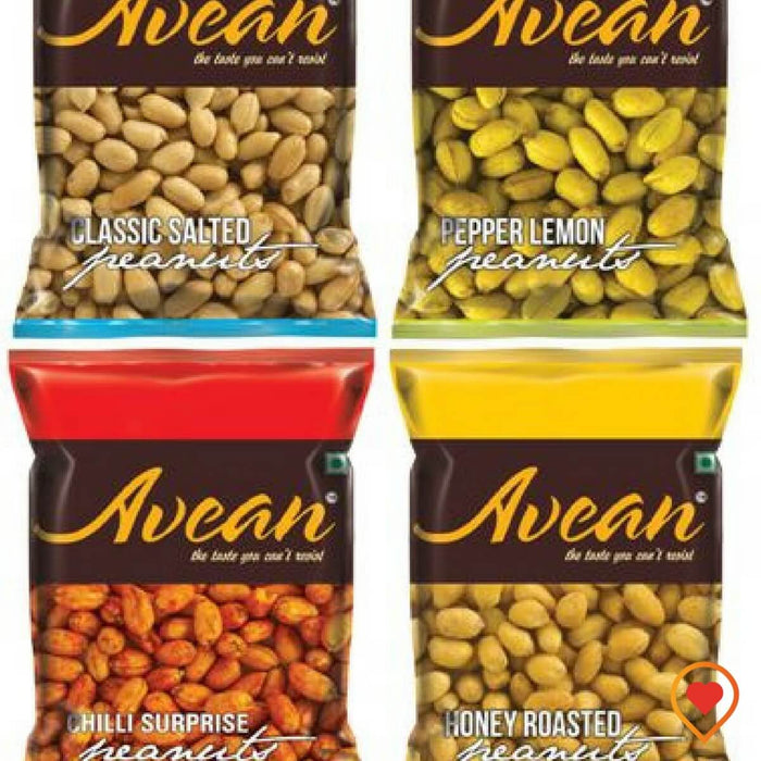 AVEAN Flavoured Peanuts (Classic Salted, Lemon Pepper, Chilli Surprise, Honey Roasted Peanuts)