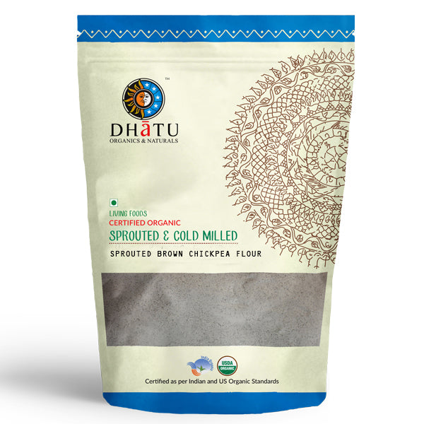 Organic Sporuted Brown Chickpea Flour