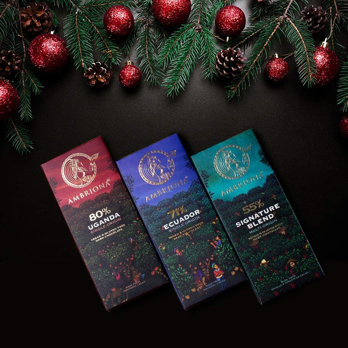 Ambriona - 55% to 80% - Single Origin Dark Chocolate - Combo (Gift Pack)
