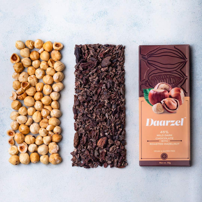 Daarzel 45% Mild Dark Chocolate - Roasted Hazelnut