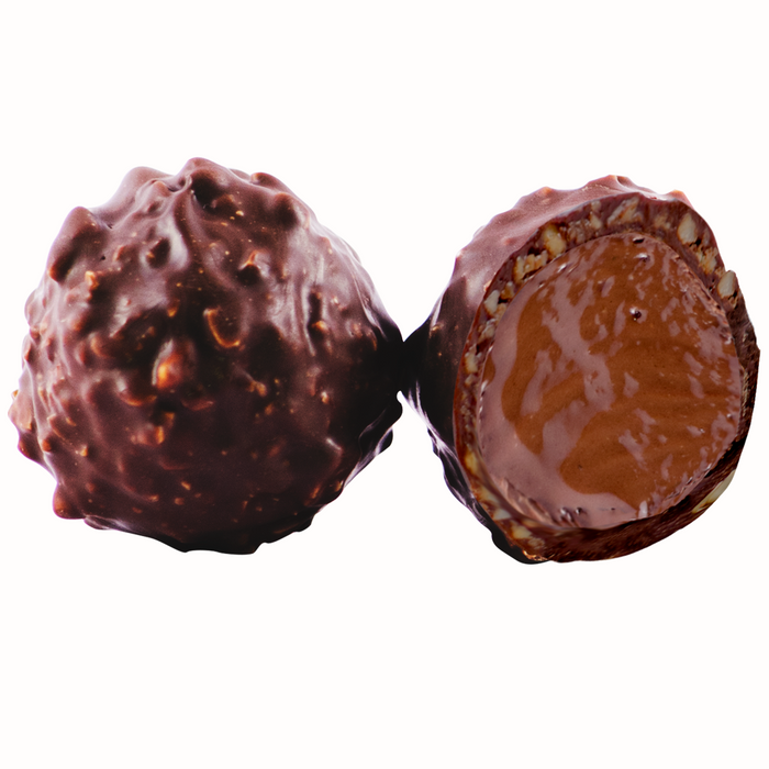 Ambriona Truffle - Hazelnut Gianduja with Dark Chocolate, (Box of 12)