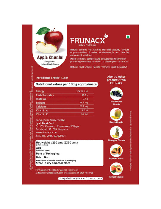 Apple Chunks (Pack of 5*50Gms)