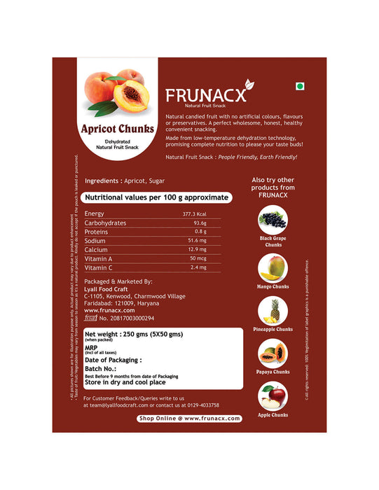 Apricot Chunks (Pack of 5*50Gms)