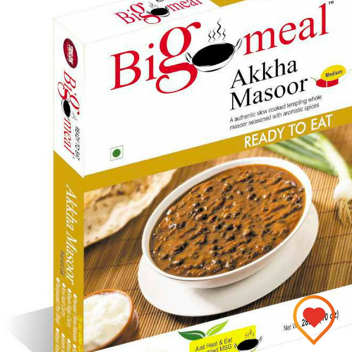 Bigmeal Ready to Eat Akkha Masoor (285 g, Pack of 2) - Foodwalas.com