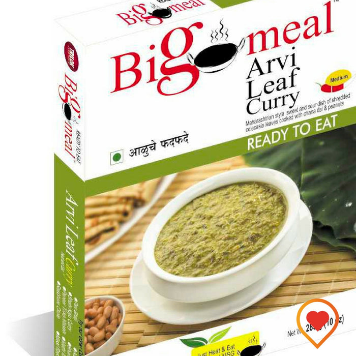 Bigmeal Ready to Eat Arvi Leaf Curry (Aluchi Patal Bhaji) (285 g, Pack of 2) - Foodwalas.com
