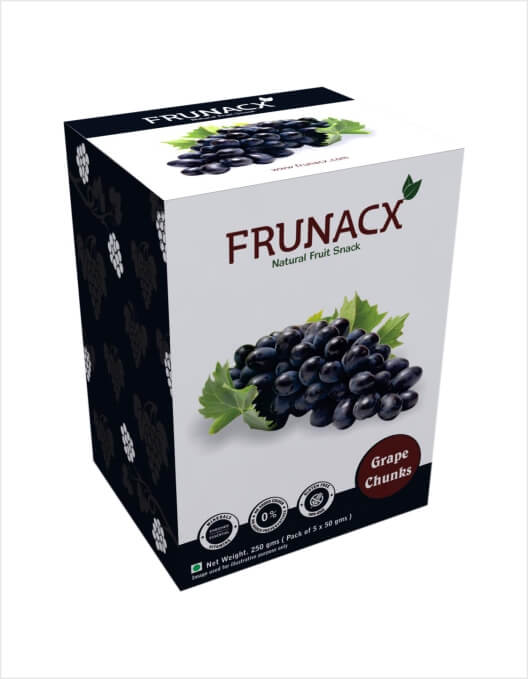 Black Grapes Chunks (Pack of 5*50Gms)