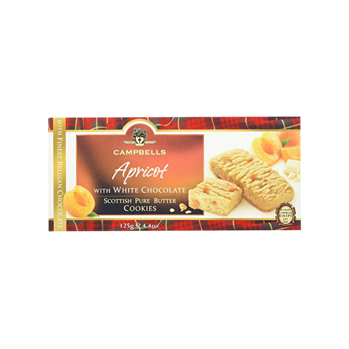 Apricot with White Chocolate Scottish Pure Butter Cookies