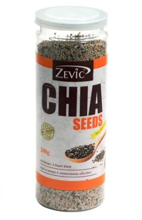 Zevic Organic White Chia Seeds 200 Gm
