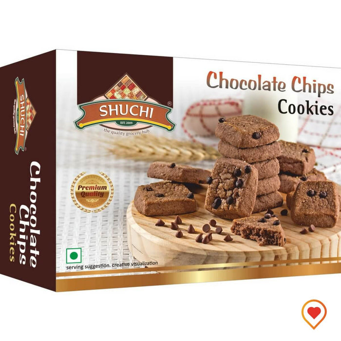 Chocolate Chips Cookies-(200 g, Pack of 2)