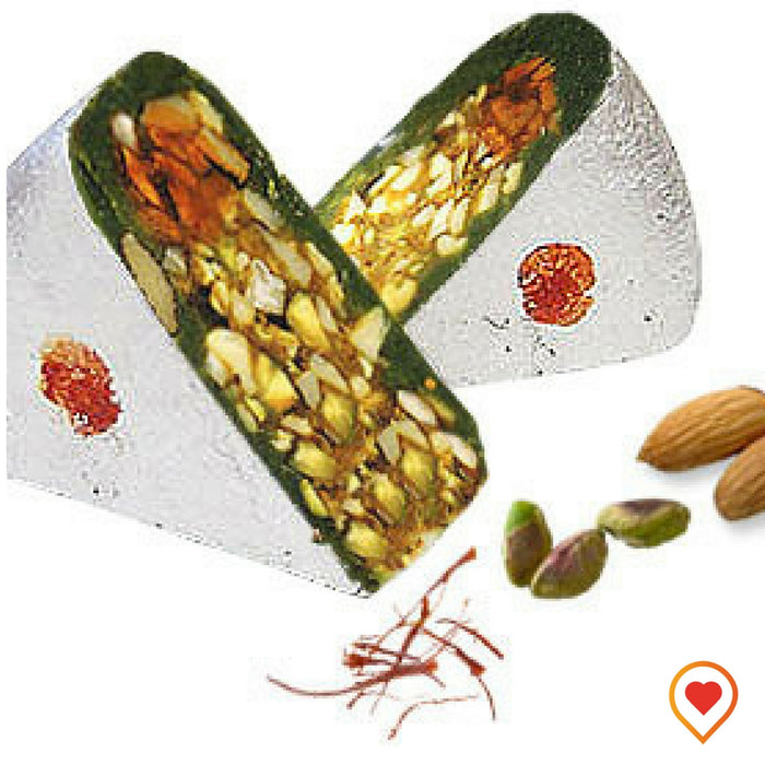 Cashew Katli filled with the richness of pistachios and other dry fruits, enjoy the flavoury combination