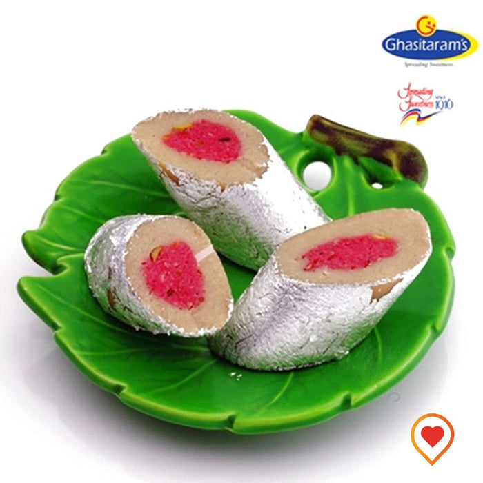 A beautiful combo of Dryfruits and roses converted into delicious Rose Melba Mithai