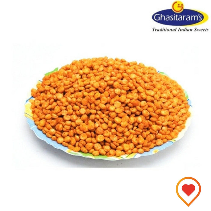Fried Chana dal is great snack and can be served with lime and some finely chopped onion. It's great on a rainy day with Indian tea.