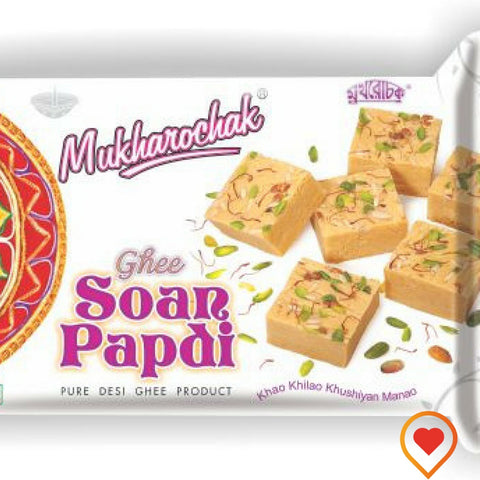 Soan papdi is a popular North Indian dessert. It is usually cube-shaped or served as flakes, and has a crisp and flaky texture