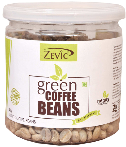 Zevic Organic Green Coffee Beans 250gm