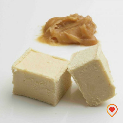 A soft creamy preparation made of sugar, butter ,White Chocolate and Iris Cream