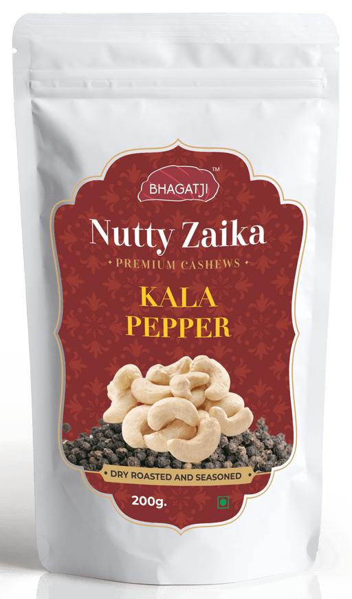 Bhagatji Nutty Zaika Premium Cashews, Kala Pepper