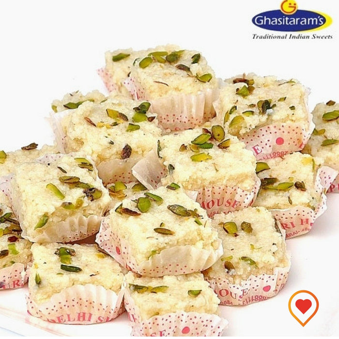 Malai Barfi Mumbai is a very famous and popular mithai. It is extensively gifted on all festival occassions such as Diwali, Holi, Rakshabandhan, Ganesh festival