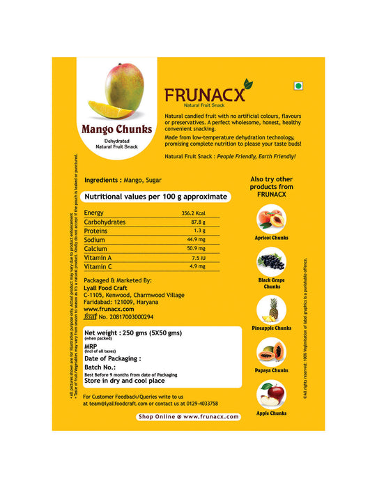 Mango Chunks (Pack of 5*50Gms)