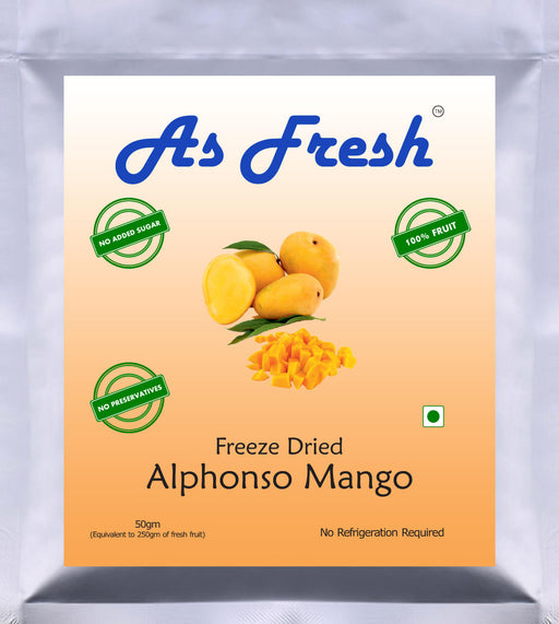 Freeze dried Alphonso Mango, 50g