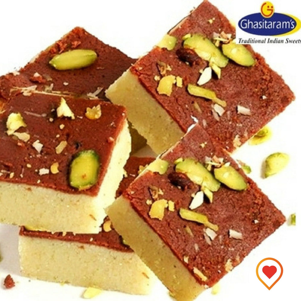 Milk Sugar And Chocolate powder cooked to make your favourite Two Layered Chocolate Bafri :)