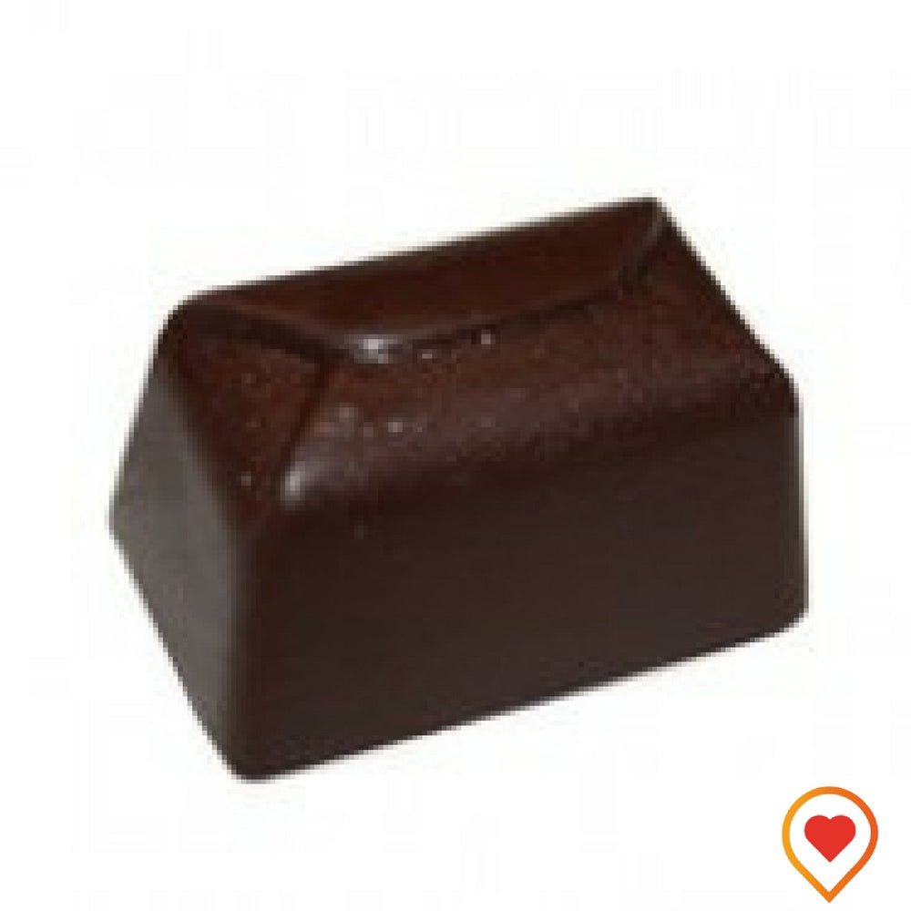 This top seller is a soft mint fondant filled in dark Chocolate