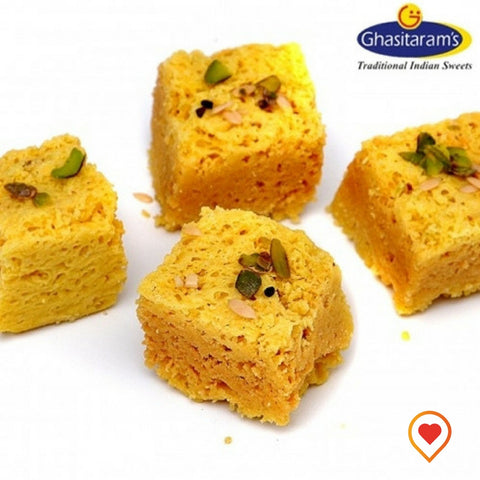 Mysore pak is the traditional sweet of India made from pure ghee, which enhances the richness and taste of the tradition Mysore pak, just melts in your mouth