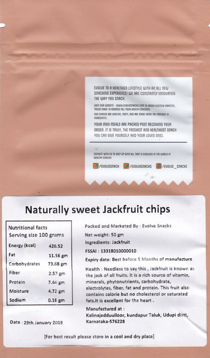 Naturally Sweet Jackfruit Chips