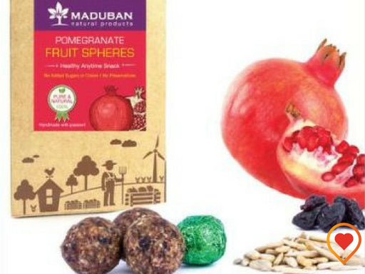 POMEGRANATE FRUIT SPHERES - HEALTHY AND SUGAR FREE SNACK  - Foodwalas.com