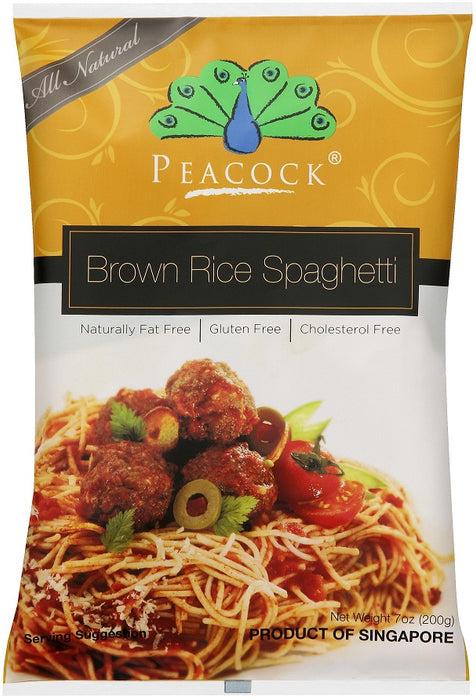 Peacock Brown Rice Spaghetti