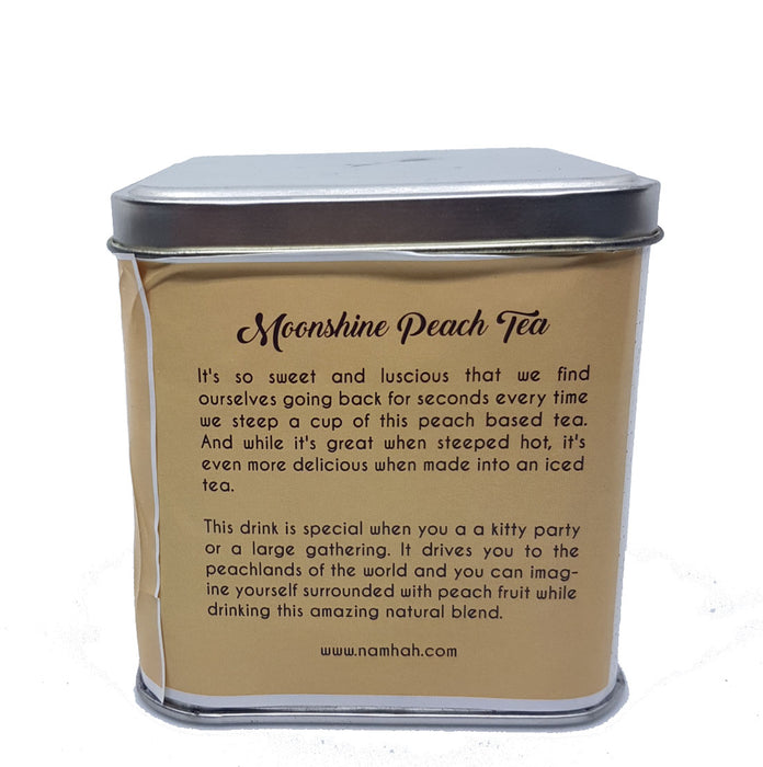 Moonshine Peach Tea | Premium Tea Tin Box