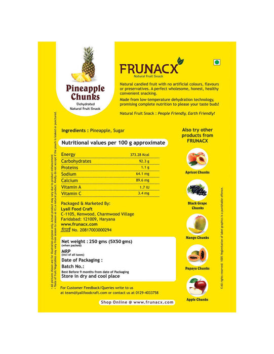 Pineapple Chunks (Pack of 5*50Gms)