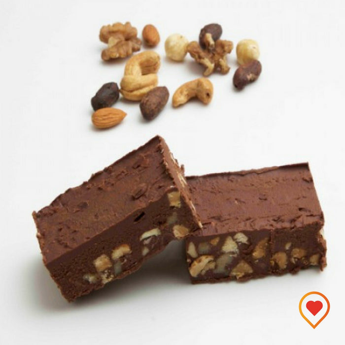 A soft creamy preparation made of sugar, butter ,Chocolate ,Roasted Almond, Walnut and Cashew nuts
