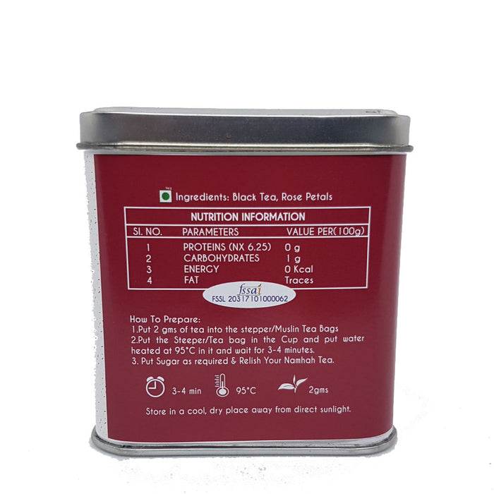 Rose Oolong Tea | Premium Tea Tin Box