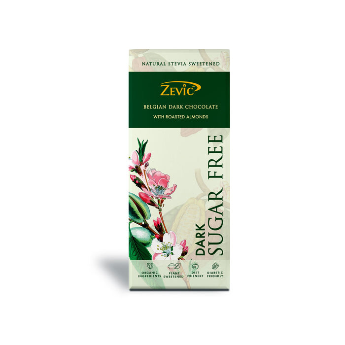 Zevic Roasted Almonds With Stevia (No added sugar)