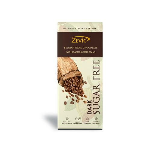 Stevia Chocolate with Roasted Coffee Beans 80 gm (Pack of 2)