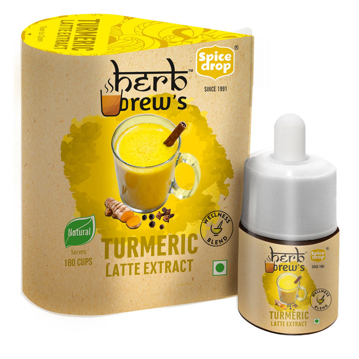 Spice Drop Herb Brews Turmeric Latte Extract for Immunity