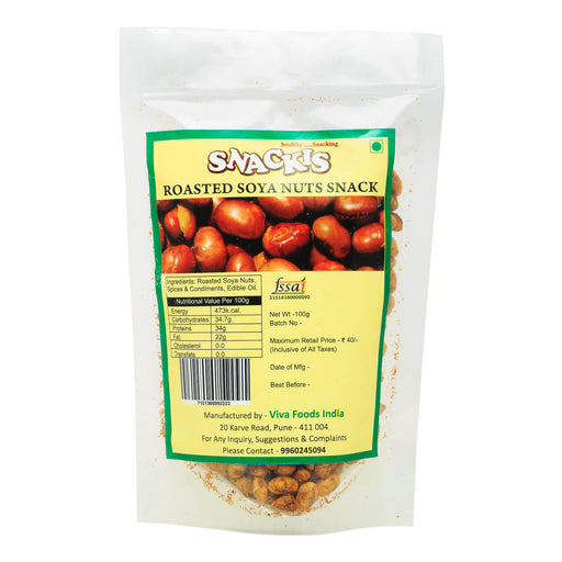 Roasted Soya Nuts (Hing Tadka)